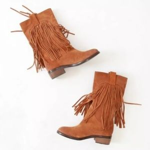 LUCKY BRAND Caleb Bombay Fringe Tall Boots